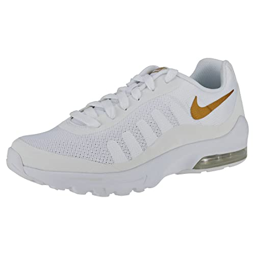 Nike Air MAX Invigor (GS), Zapatillas de Running para Hombre, (White/Metallic Gold 100), 38.5 EU: Amazon.es: Zapatos y complementos