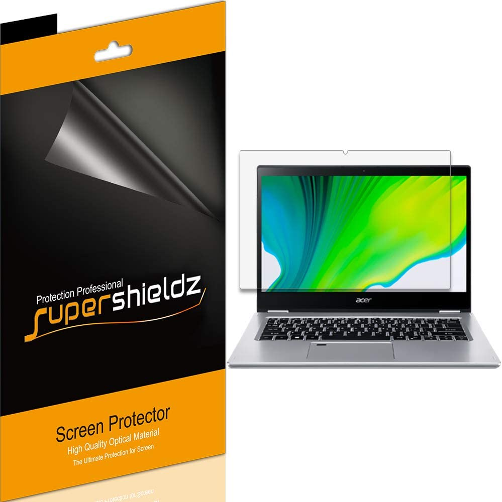 (3 Pack) Supershieldz for Acer Spin 3 (14 inch) SP314-53N-77AJ Screen Protector, High Definition Clear Shield (PET)