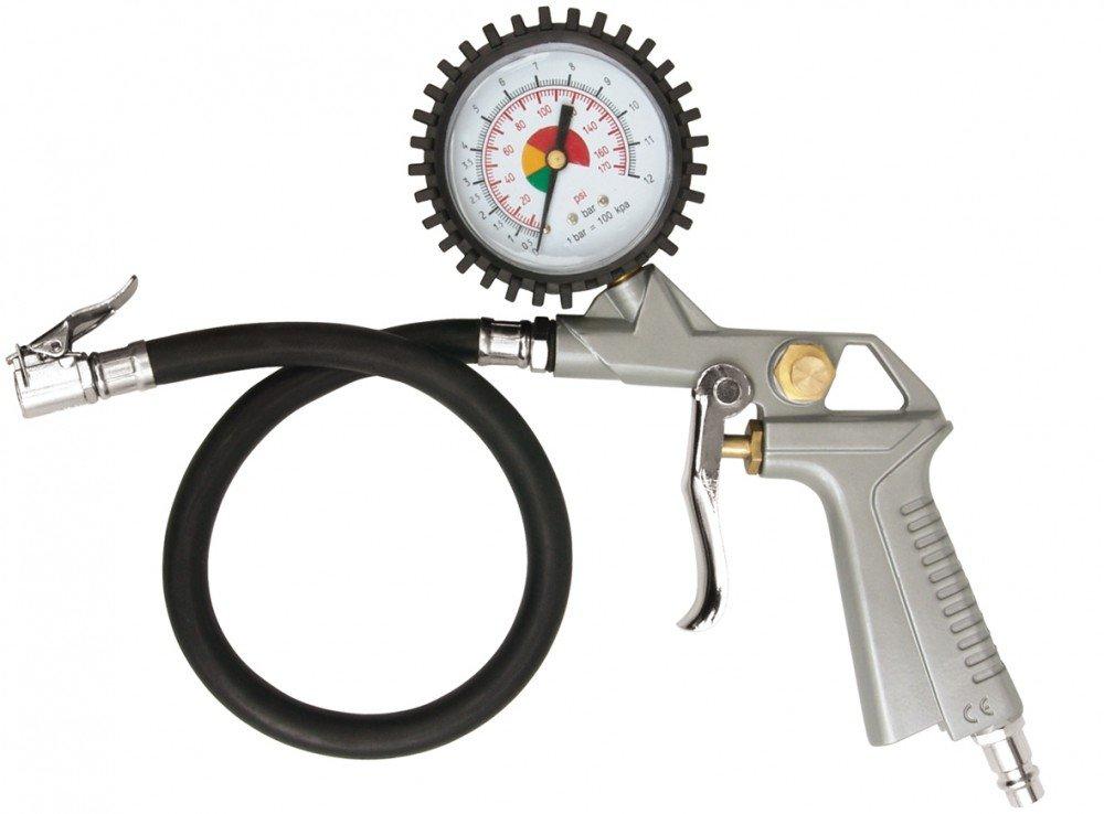 Druckluft Reifenf/üller Reifenmesser Reifenf/üllger/ät Luftpistole mit Manometer