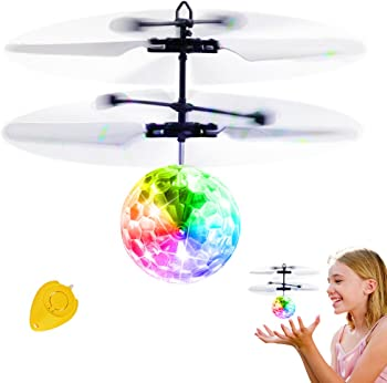 Betheaces Rechargeable Light Up Ball Infrared Induction Helicopter