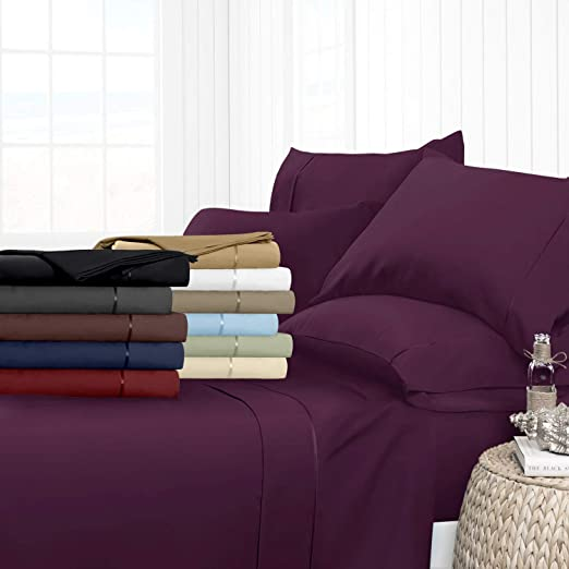 600 THREAD COUNT 4 PC SHEET SET 100/% EGYPTIAN COTTON SELECT YOUR SIZE /& COLOR