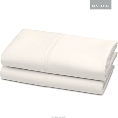 WOVEN TENCEL Pillowcase Set - Silky Soft, Refreshing and Eco-Friendly - Queen - Ivory - 2pc