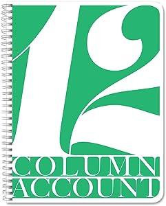 "BookFactory 12 Column Account Book/Ledger Book/Accounting Ledger/Notebook (12 Columnar Book Format) - 100 Pages, 8.5"" x 11"", LOG-100-7CW-PP-(Accounting-12))"