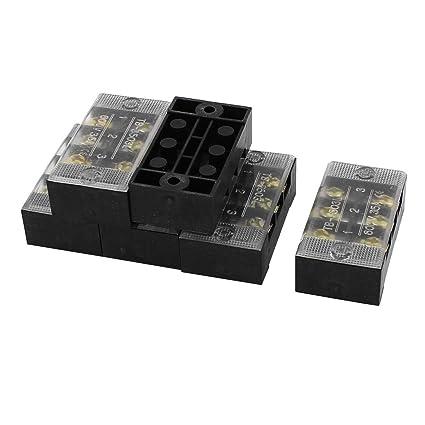 5 Pcs X3-0512 400V 6A 12 Position 2 Row Plastic Screw Terminal Block