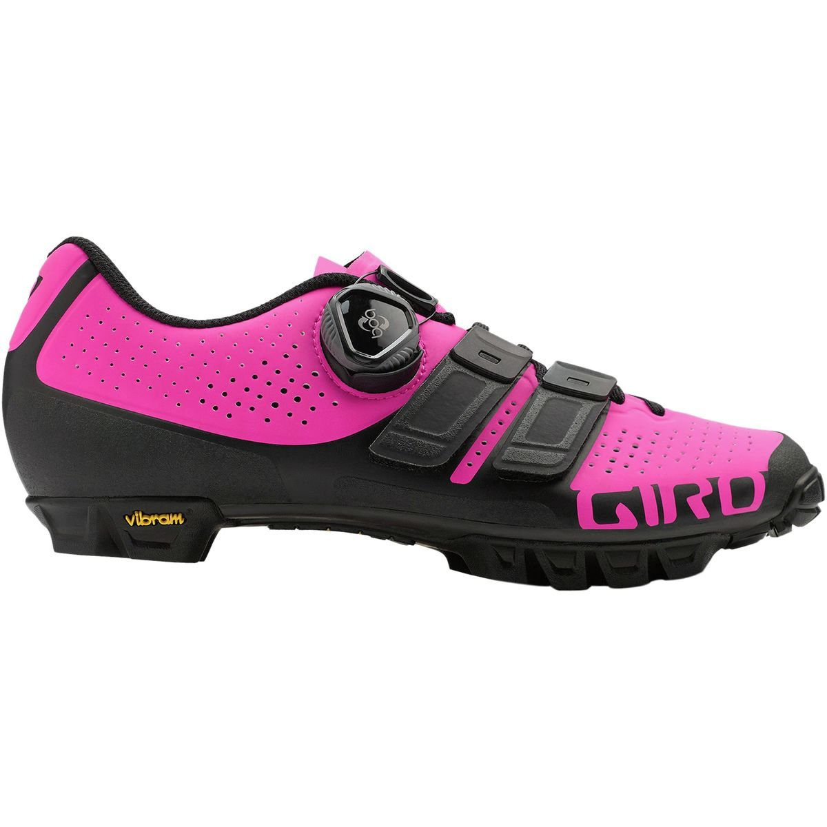 Giro SICA Techlace Cycling Shoe - Women's Black/Bright Pink, 36.0
