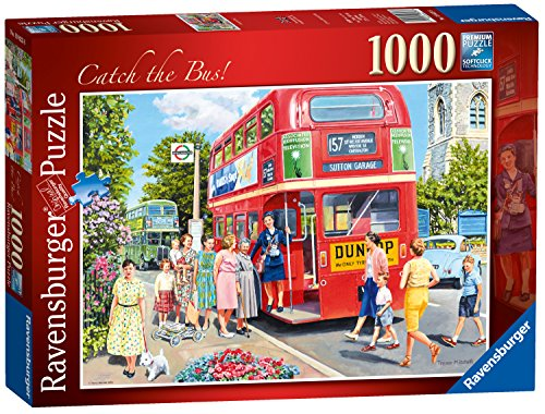 Catch 1000 Piece Puzzle (Ravensburger Catch The Bus, 1000 Pieces Jigsaw Puzzle)