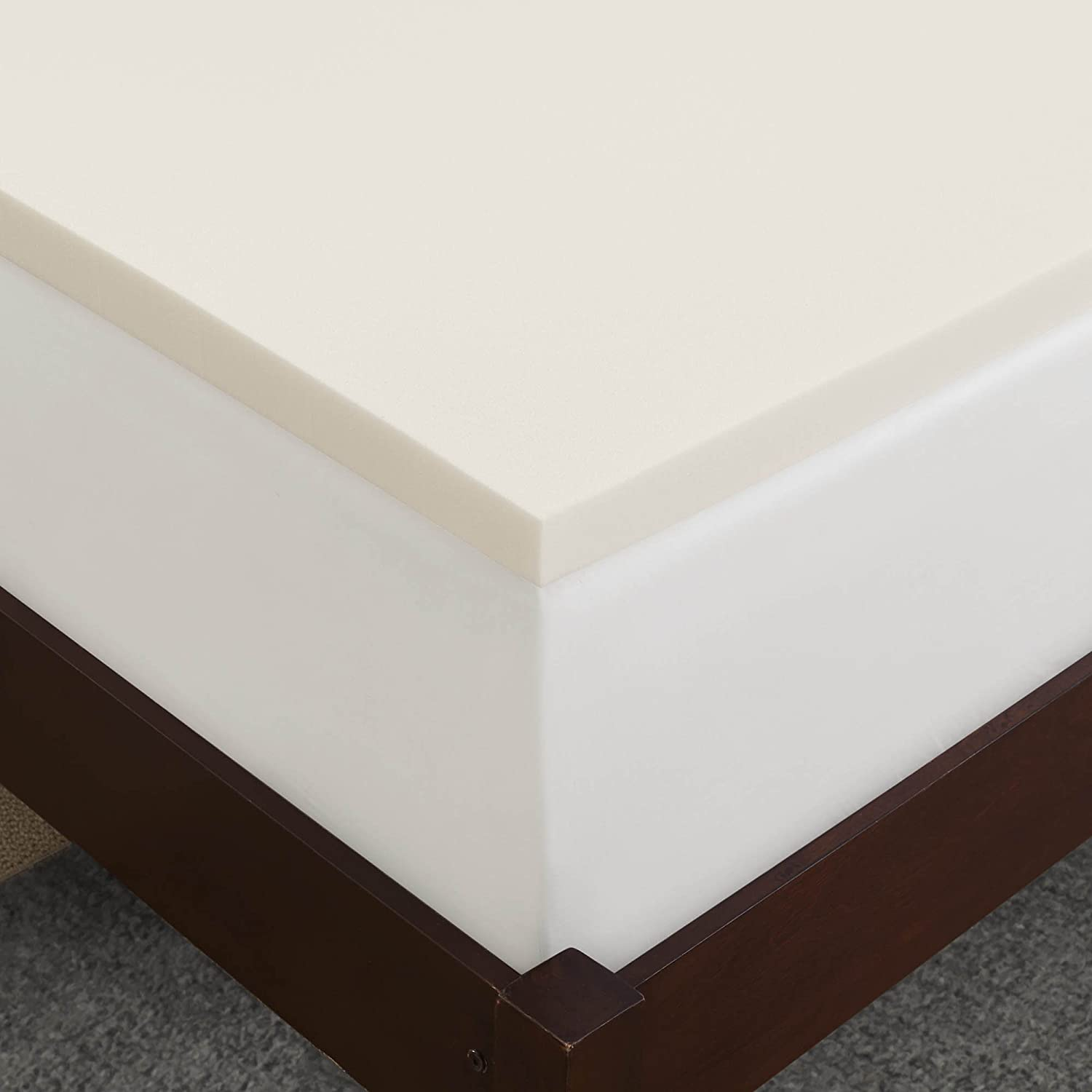 amazoncom sleep innovations 2inch suretemp memory foam topper with fitted cover 10year limited warranty home u0026 kitchen