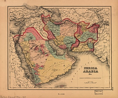 Map: 1855 Persia Arabia & c|Iran|Middle - Ter Website