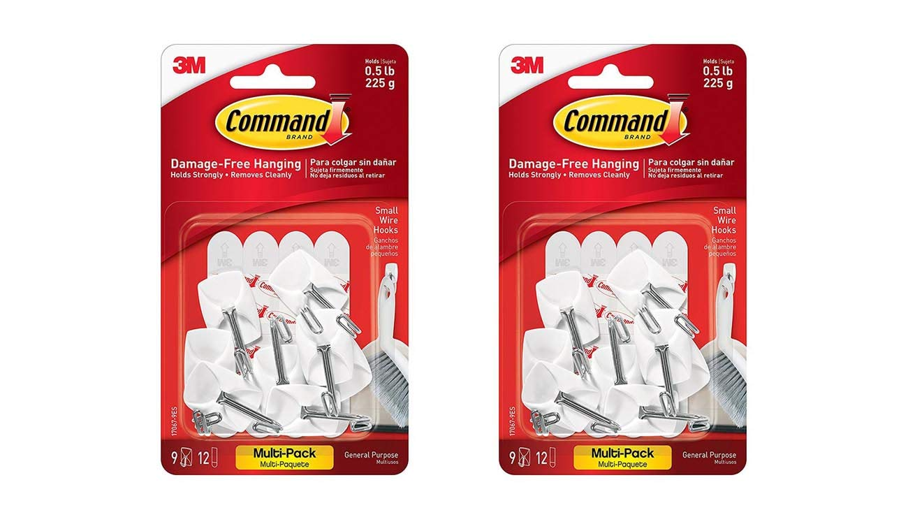 Command Wire Hooks Value Pack Small White 9 Hooks 17067 9ES 2pack