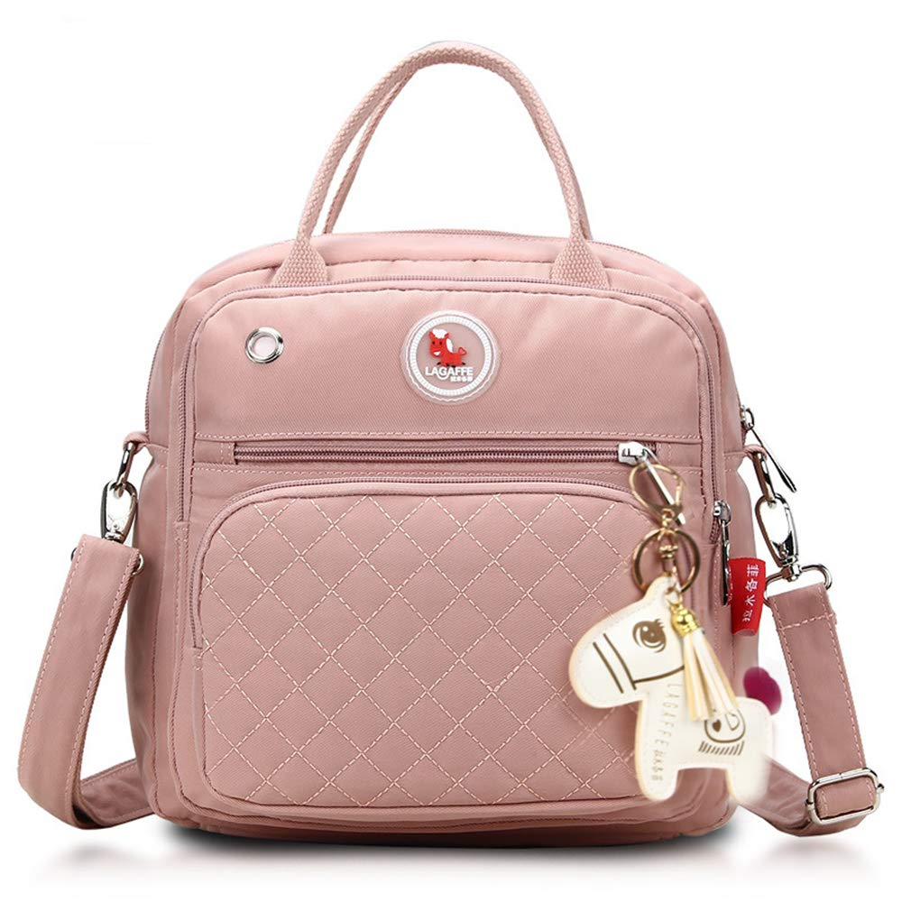Meyuxi Small Diaper Bag Backpack, Multi-Function Waterproof Maternity Baby Nursing Nappy Back Pack Tote Bag for Boy/Girl on Travel, Stylish & Durable,Pink