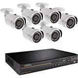 Q-See QC968-6DX-2 | Surveillance System with 8-Channel HD Analog DVR & 2TB Hard Drive | Includes Six 4MP HD Security Cameras | Compatible with 4K TVs | IOS/ Android App for Motion Detection Alerts