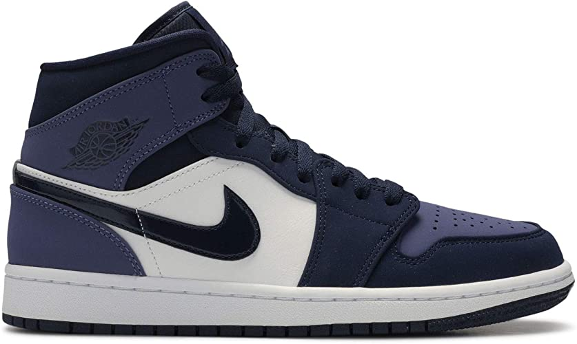 Jordan Nike Men's Air 1 MID Obsidian Sanded Purple 554724-445