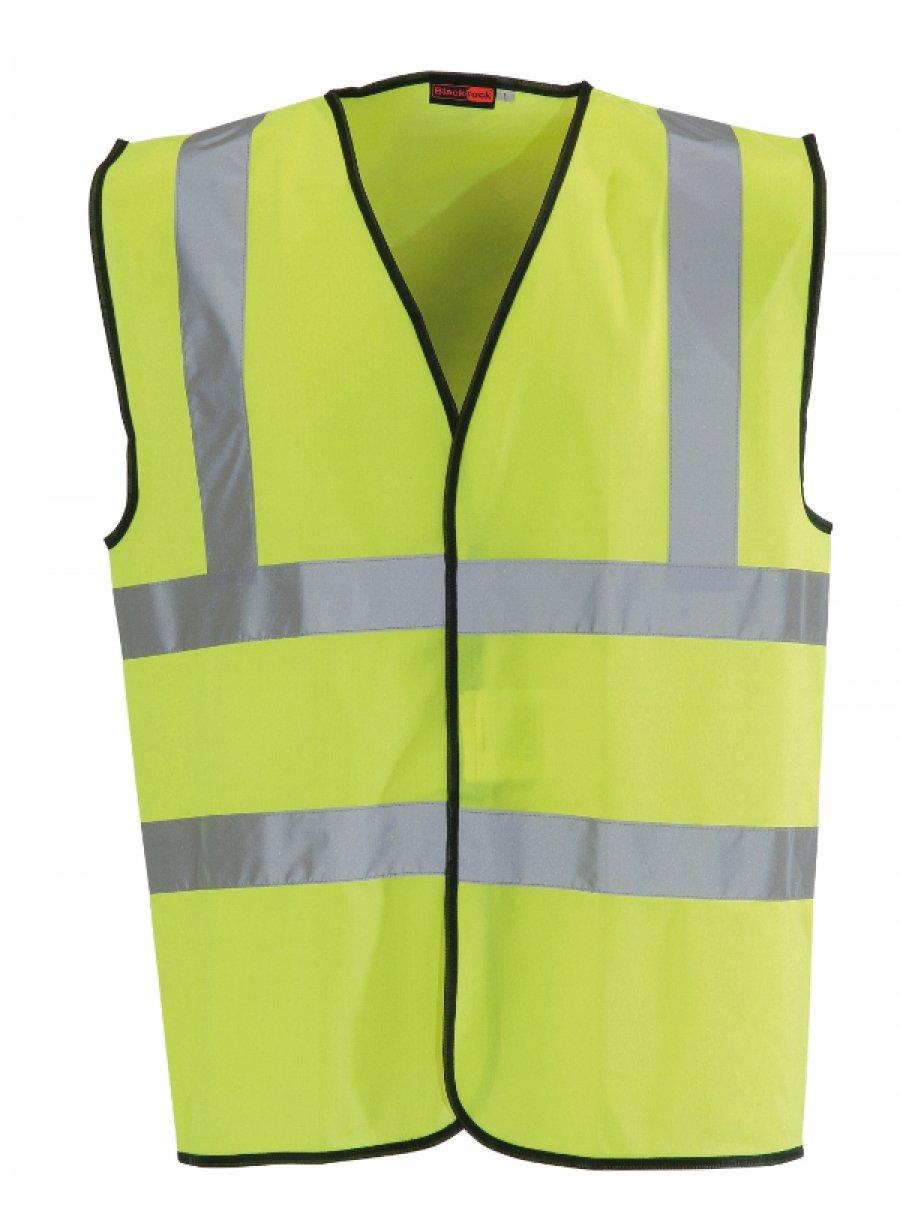 Blackrock 80300 Yellow High Visibility Waistcoat, EN20471, Class 2 UTTL549_5