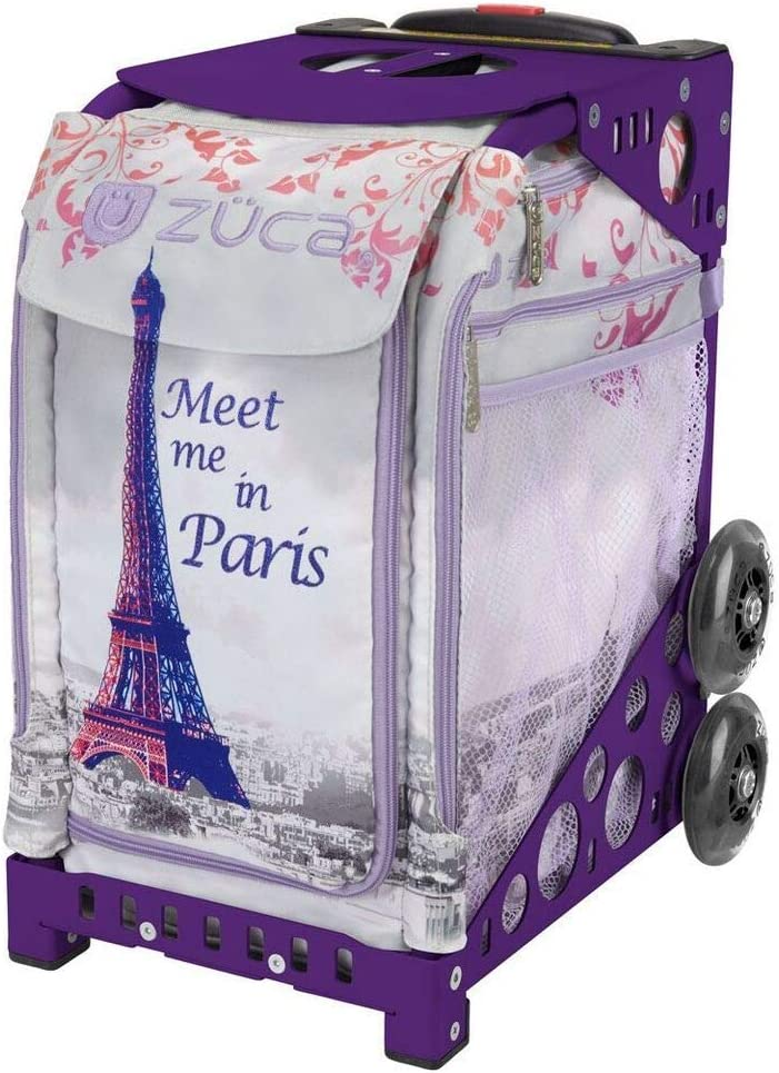ZUCA Meet Me latest in Paris Sport trust Insert Fla Purple Bag with and Frame