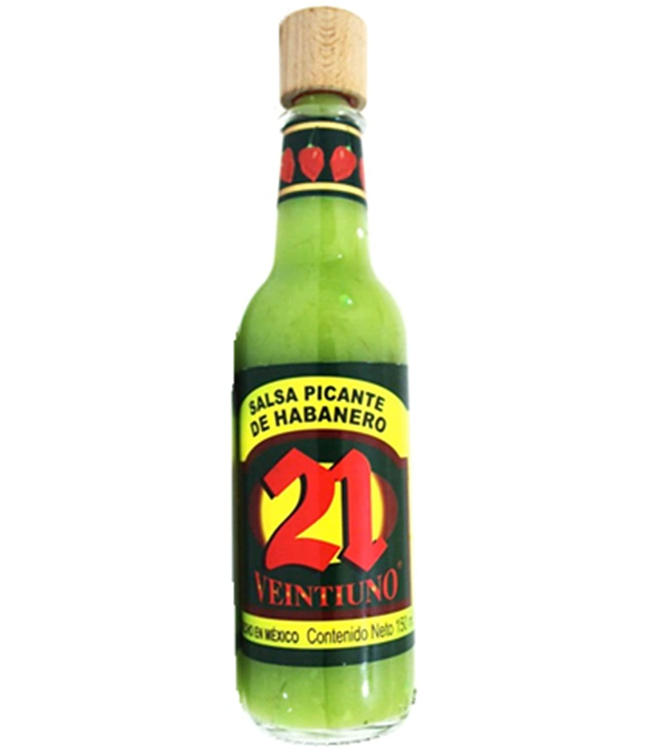 Amazon.com : Salsa 21 - Salsa Picante Mexicana (Mexican Hot Sauce) (Pack of 6) (Orange Habanero) : Grocery & Gourmet Food