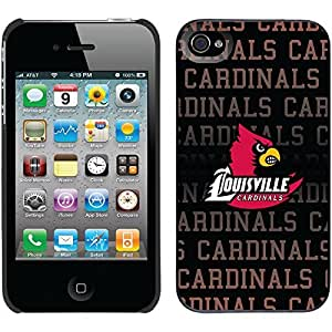 iphone covers University Of Louisville Cardinals Repeat design on Black iPhone 5c / 4 Thinshield Snap-On Case