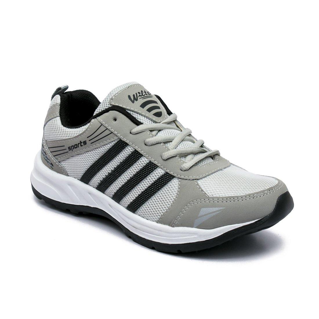 a1d44aea860c2 ASIAN Wonder-13 Grey Black Running Shoes for Men