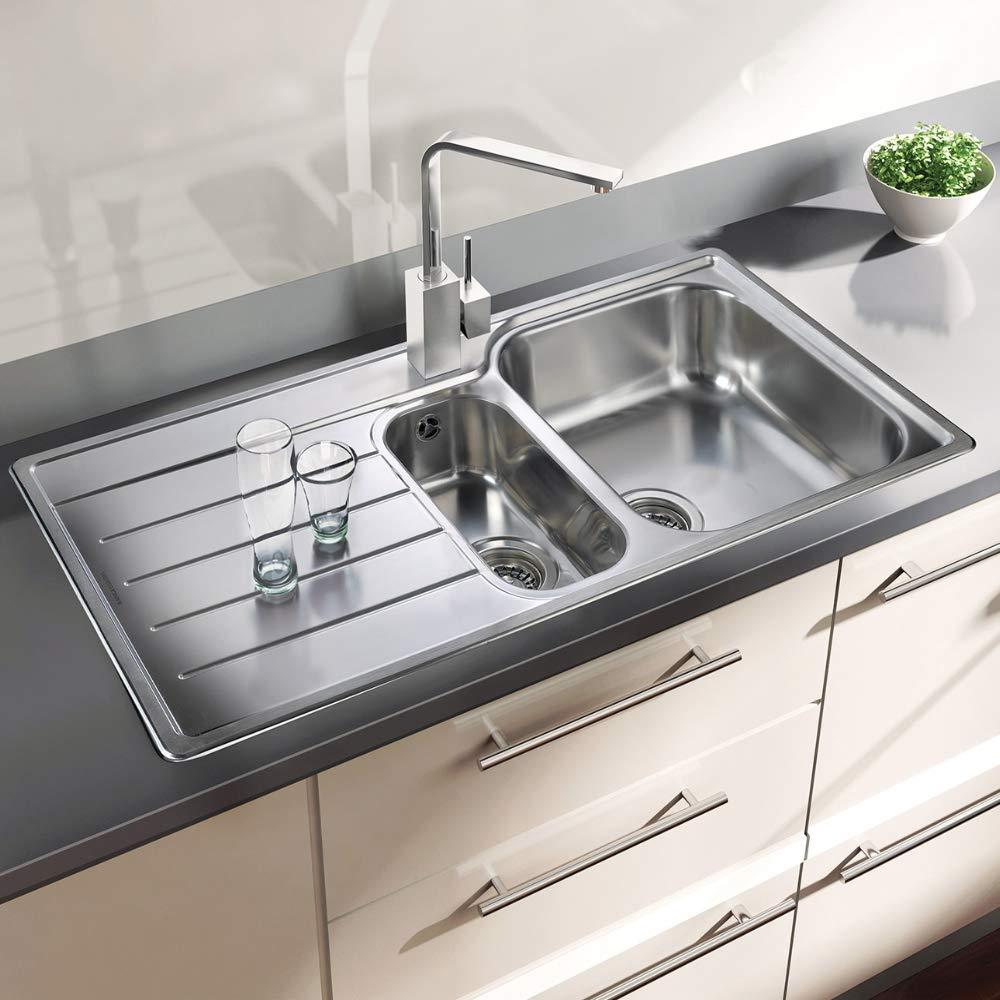 Rangemaster OL9852 Oakland 1.5 Kitchen Sink, Stainless Steel