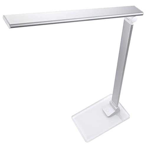 HILZO LED Desk Lamp, Foldable Table Lamp for Study, Read, Office, Touch Sensor with 4 Types of Brightness