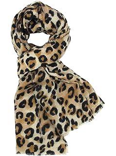 DAMILY Femmes Hiver Trendy Léopard Imprimé Animal Echarpe Châle Wrap  Élégant Long Pashmina Couverture Foulards ee50368ef07