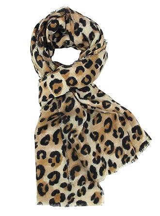 DAMILY Femmes Hiver Trendy Léopard Imprimé Animal Echarpe Châle Wrap  Élégant Long Pashmina Couverture Foulards ( c16e1269c1f