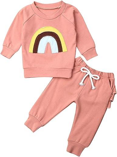 2PCS Kids Baby Girls Clothes Outfits T-shirt Tops Tracksuit Pants Leggings Set