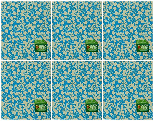 - Duck Brand Duct Tape Sheets 6-Pack Blue Surf Flower 8.25 inches by 10 inches (282718)