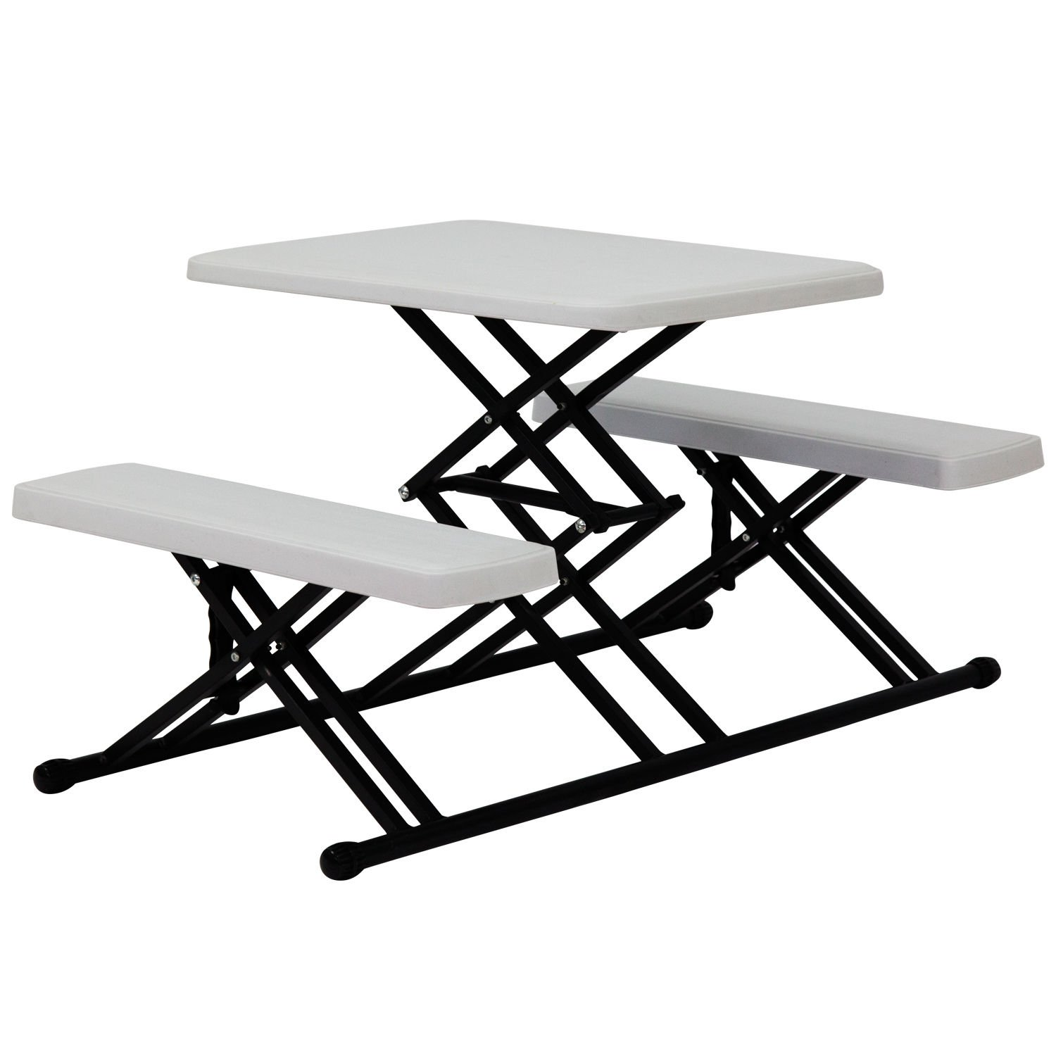 Kids Portable Folding Table and Chairs Set Plastic Camping Picnic Lawn + FREE E-Book