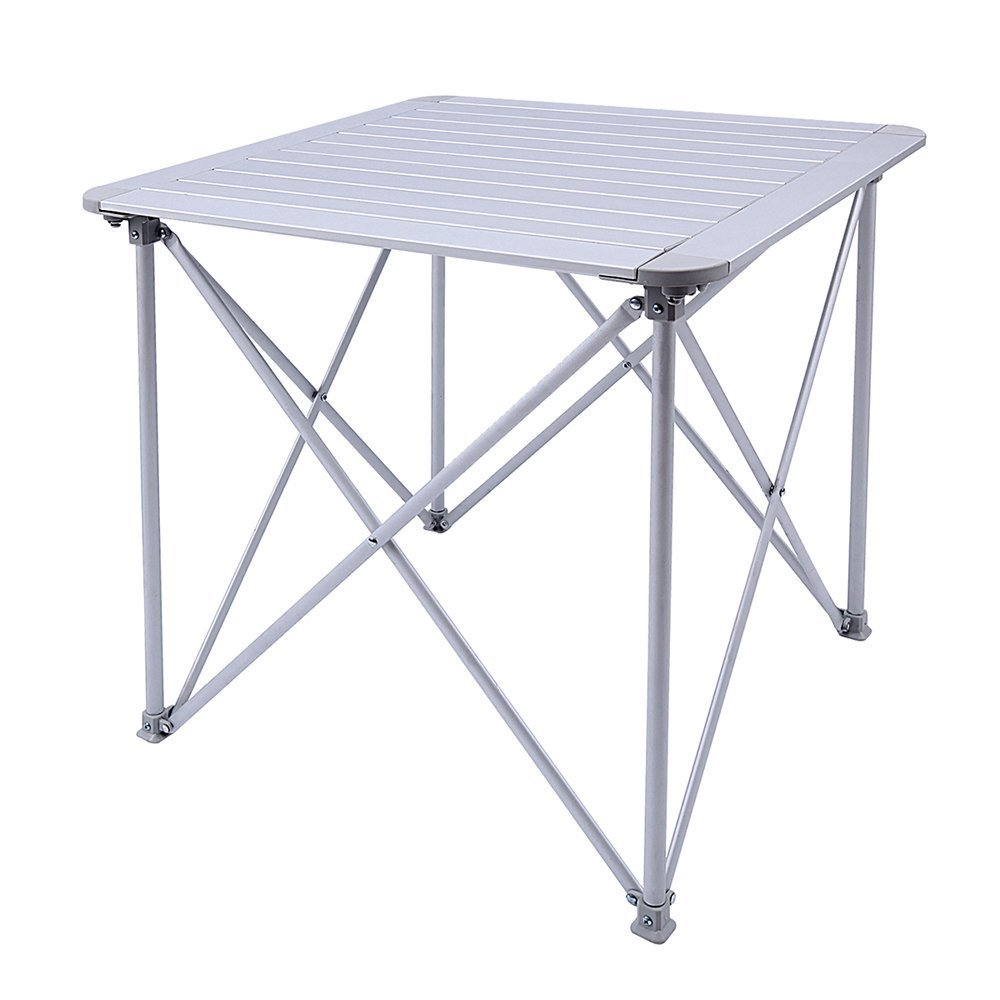 KingCamp Aluminum Alloy Folding Camp Table Roll-Top Lightweight Portable Stable Versatile 4 People Compact and Easy Transport for Camping Outdoor Picnic Vacation