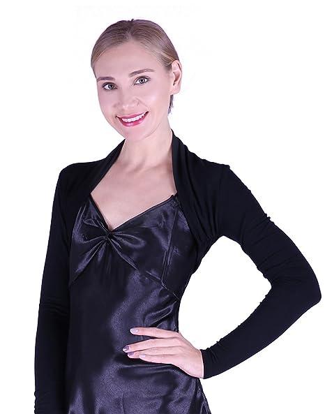 ca55face82480 HDE Women's Bolero Long Sleeve Cardigan Shrug at Amazon Women's ...