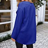 GIFC Womens Casual Solid Open Cape Coat Loose
