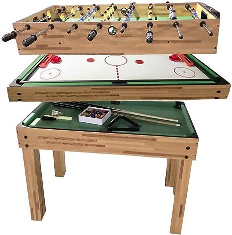 Juego de mesas de juego 3 en 1 de Hawton, multiusos, mesa de juego de combinación compacta, mini mesa de futbolín, mesa de hockey de aire, mesa de billar, mesa pequeña para