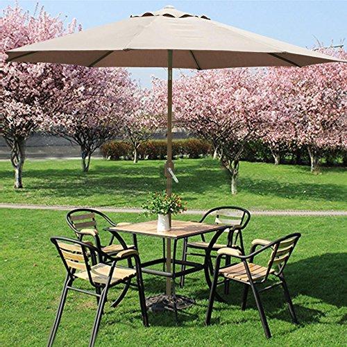 Outdoortips Parasol Sunshade Tan Garden Sun Shade For Beach/Pool/Patio  Umbrellas Large 3m