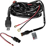 Primelux Universal 12ft Relay Wiring Harness for LED Light Bars - 12V 40A Relay & 3-Pin On/Off Rocker Switch Compatible with