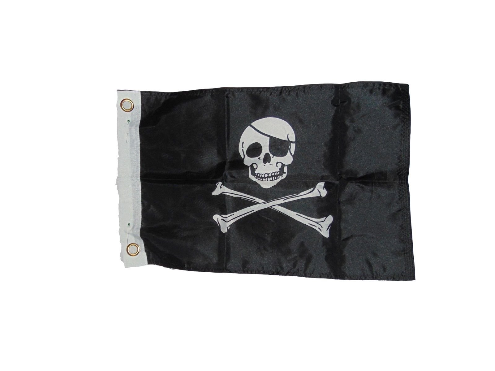 Pirate Jolly Roger Skull Flag Polyester 12 X 18 Inches Boat Motorcycle Fort