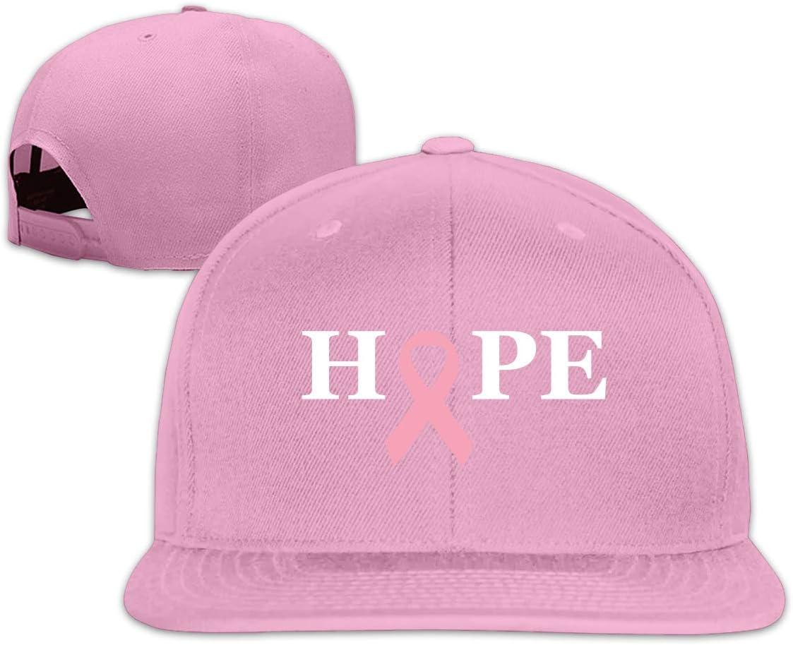 MOCSTONE Unisex Snapback Hat Hope to Heal Breast Cancer Adjustable Baseball Cap