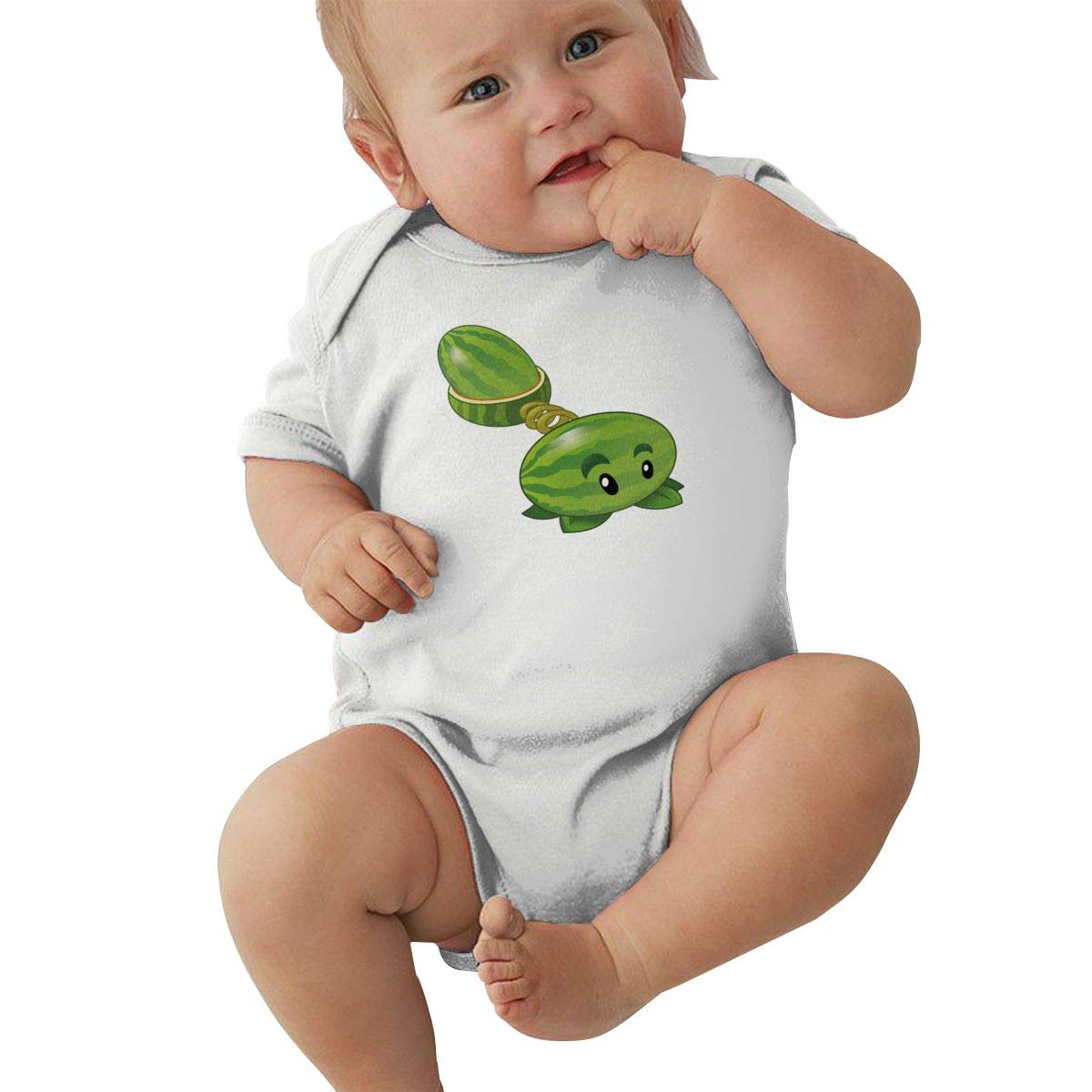 Zombies Watermelon Funny Jumpsuits Sleepwear Black Runxin Baby Boys Girls O-Neck Short-Sleeve Jersey Bodysuit Plants Vs