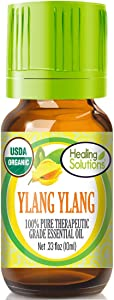 Organic Ylang Ylang Essential Oil (100% Pure - USDA Certified Organic) Best Therapeutic Grade Essential Oil - 10ml