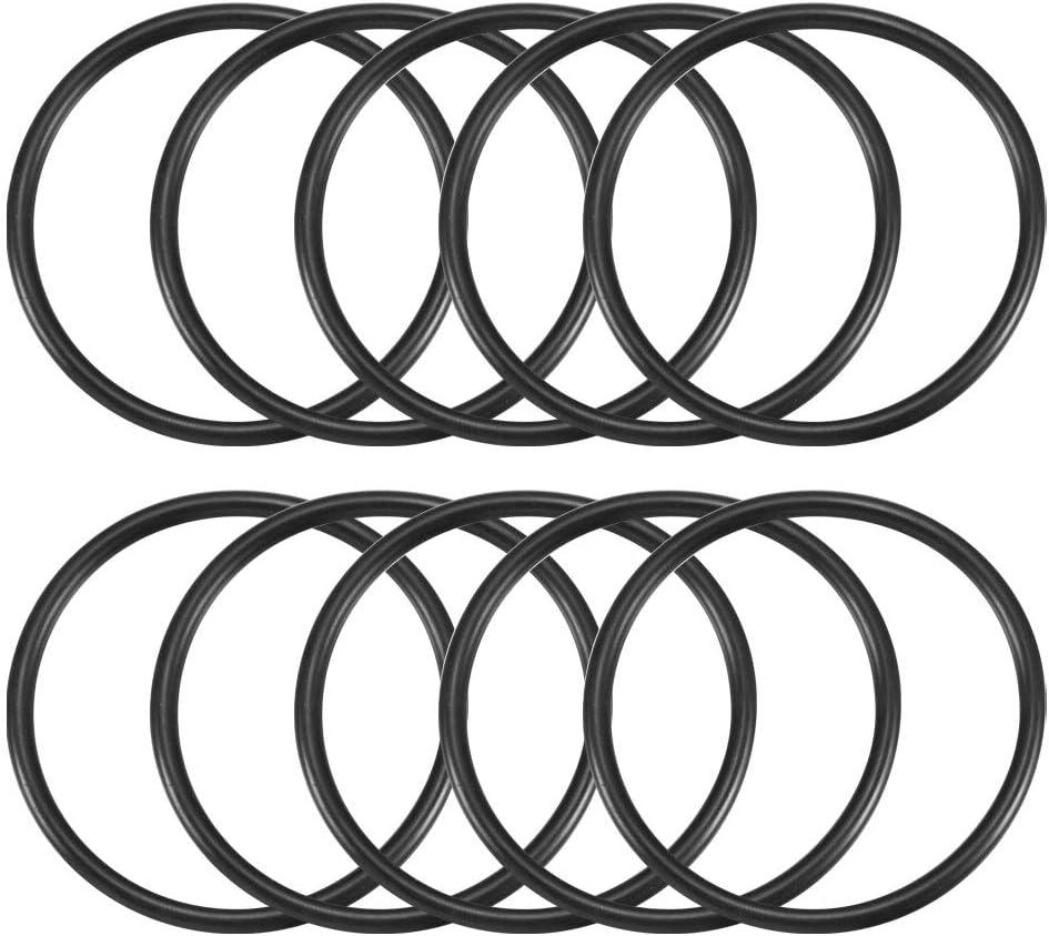 uxcell Nitrile Rubber O-Rings 65mm OD 57mm ID 4mm Width Metric Buna-N Sealing Gasket Pack of 10