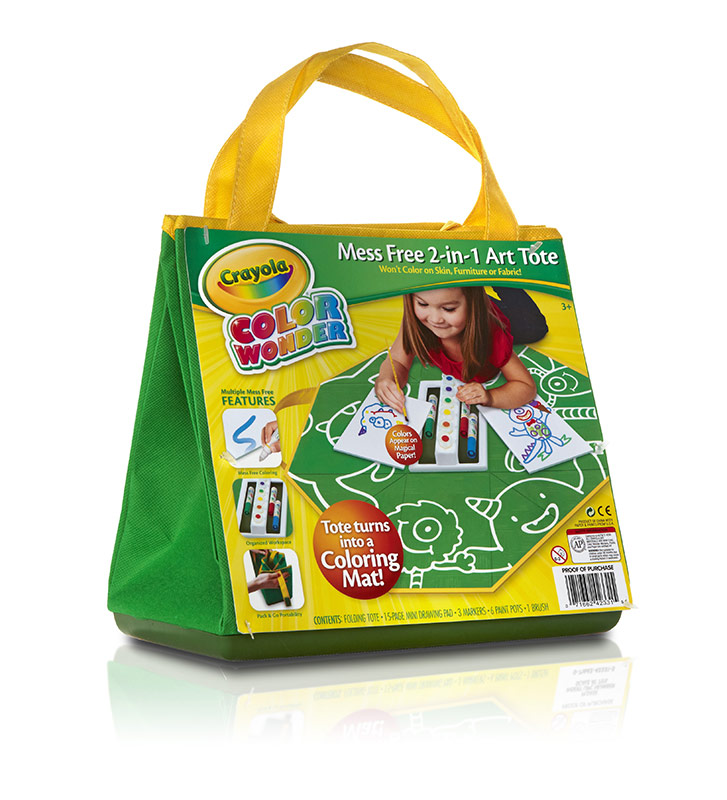 Amazon.com: Crayola Color Wonder Mess Free 2-in-1 Art Tote: Toys ...