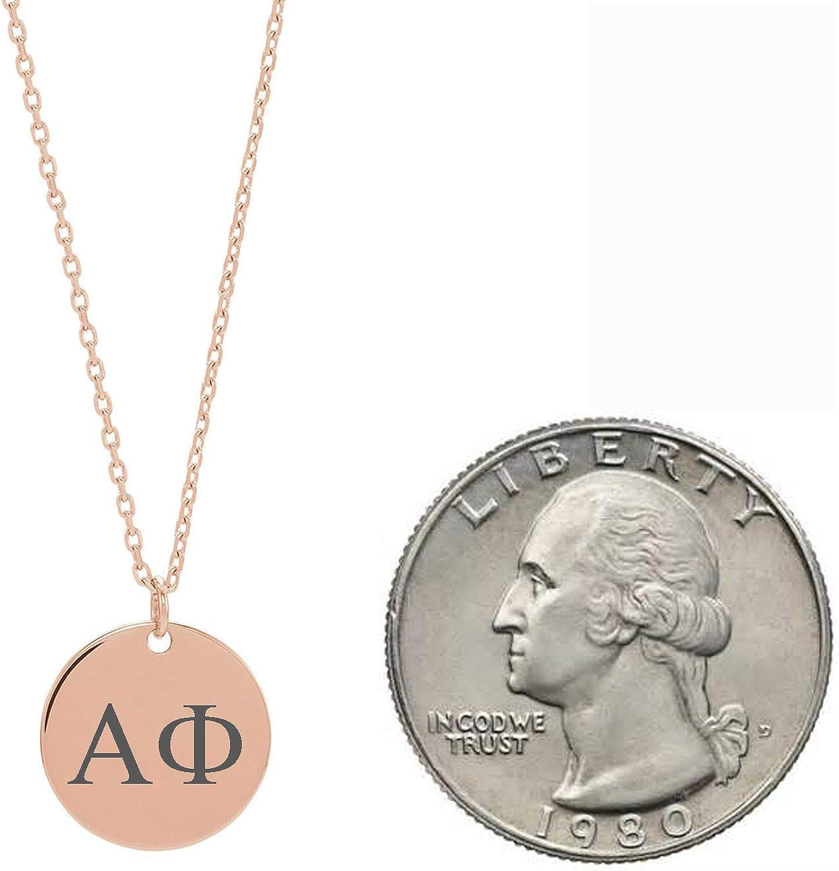 Dainty Alpha Phi Sorority Jewelry Drop Necklace Sorority Lavalier Necklace