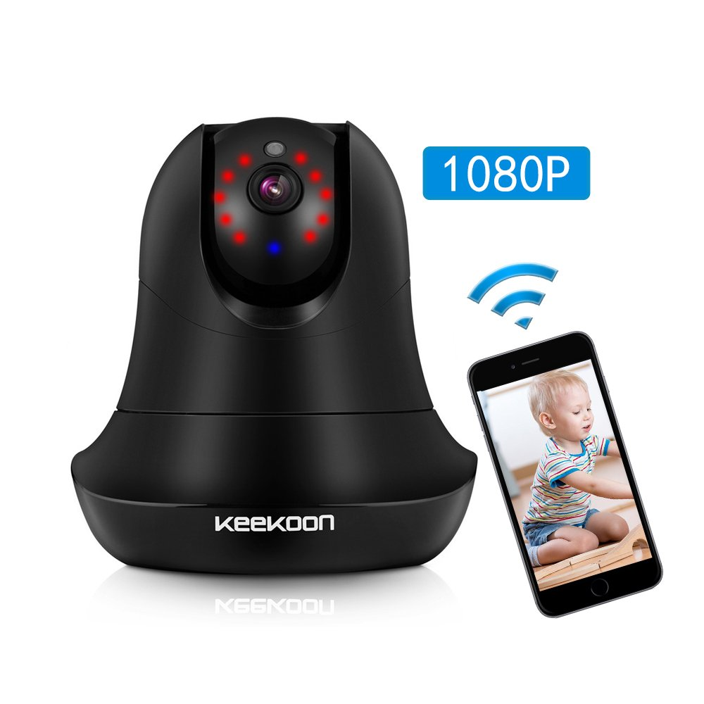 Wireless IP Camera, MZvul HD 1080P Internet WiFi IP Security Surveillance Camera Baby and Pet Monitor Nanny Cam with Pan/Tilt Motion Detection, 2 Way Audio & HD Night Vision (without sd card)