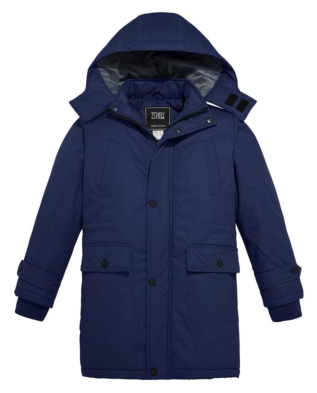 ZSHOW Boys and Girls Outdoor Waterproof Parka Hooded Fleece Lined Ski Jacket Windproof Rain Jacket NUSZXBB004