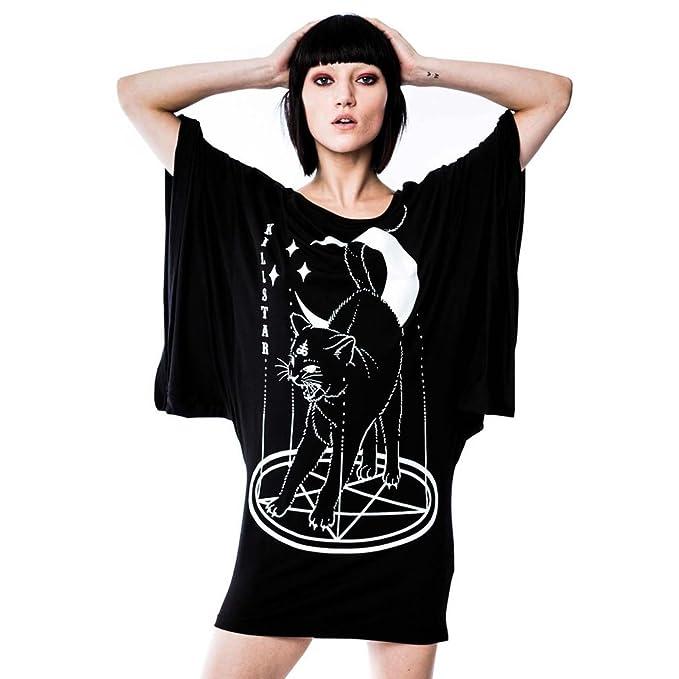 Killstar - Vestido - kimono - Manga Larga - para mujer negro X-Small