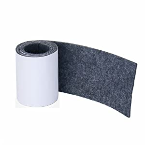 Joyoldelf Felt Furniture Pads with Strong Adhesive, DIY Self Heavy Duty Felt Strip Roll & Wood Floor Protector, Suitable for Table, Sofa, Plant Pots and Dishes, 39.37''x 3.93'' (Dark Gray)