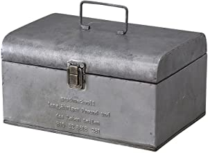 Time Concept Geshmack Metal Iron Antique Style Storage - Small Tool Box - European Retro Inspired, Tinplate Home Décor