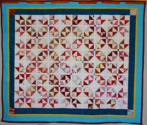 Red quilt in the