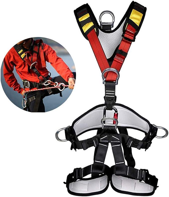 OTENGD Arnés de Escalada, arnés de Seguridad Desmontable para Todo el Cuerpo Cinturón de Seguridad, para arnés de Escalada de árboles al Aire Libre, Escalada de Banda para Exteriores
