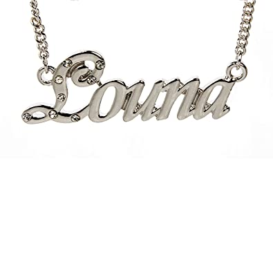 collier prenom louna