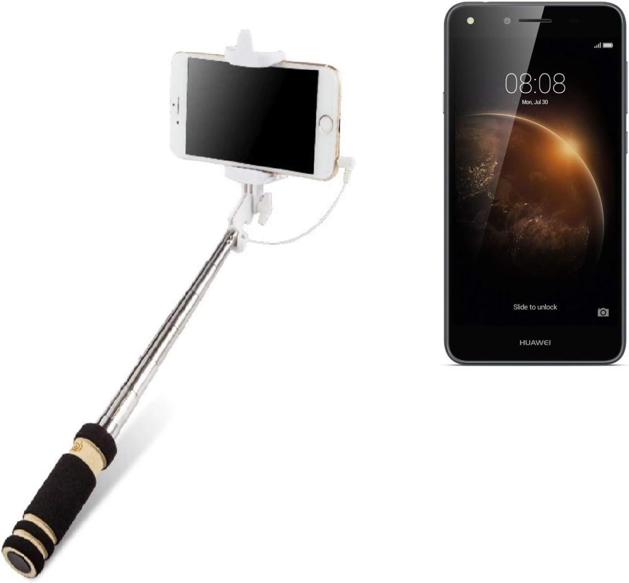 K-S-Trade Selfie Stick Palillo para Huawei Y6 II Compact, Negro ...